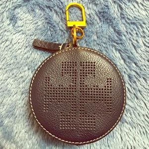 Tory Burch Perforated Logo Key/Coin Pouch
